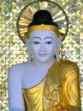 Buddha Image, Shwedagon Paya (Shwe Dagon Pagoda), Yangon (Rangoon), Myanmar (Burma) Photographic Print by Gavin Hellier