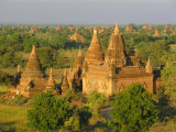 Landscape of Ancient Temples and Pagodas, Bagan (Pagan), Myanmar (Burma) Photographic Print by Gavin Hellier