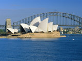 Opera House and Sydney Harbour Bridge, Sydney, New South Wales, Australia Photographic Print by Gavin Hellier