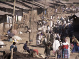 Street Market in a Village Near the Airport, Gondar, Ethiopia, Africa Photographic Print by Jane Sweeney