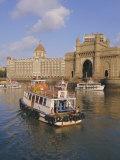 The Gateway to India and the Taj Mahal Hotel, Mumbai (Bombay), India Photographic Print by Charles Bowman
