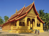 Wat Ong Teu, Vientiane, Laos Photographic Print by G Richardson