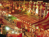 Stalls with Lanterns, Chinatown, Singapore Photographic Print by Charcrit Boonsom