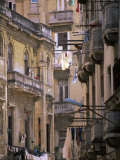 Apartment Buildings with Laundry Hanging from Balconies, Havana, Cuba, West Indies, Central America Photographic Print by Lee Frost