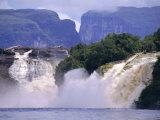 Canaima Lagoon and Falls, Canaima National Park, Venezuela, South America Photographic Print by Charles Bowman