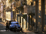 Street Scene in Evening Light, Havana, Cuba, West Indies, Central America Photographic Print by Lee Frost