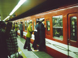 Rush Hour on Shinjuku Subway Station, Tokyo, Japan Photographic Print by Michael Jenner