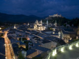 Cityscape Showing Schloss Hohensalzburg, Dusk, Saltzburg, Austria Photographic Print by Charles Bowman