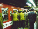 Rush Hour at Shinjuku Subway Station, Tokyo, Japan Photographic Print by Michael Jenner