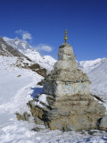 Buddhist Stupa Above Dingboche, Everest Region, Himalayas, Nepal, Asia Photographic Print by David Poole