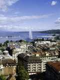 View Over the City, Geneva, Switzerland, Europe Photographie par Michael Jenner