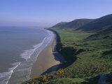 Rhossili Bay, Gower Peninsula, Glamorgan, Wales, UK, Europe Photographic Print by Charles Bowman