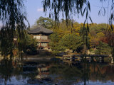 Hyang-Wonjong Pavilion, Kyongbok Palace, Seoul, South Korea, Korea, Asia Photographic Print by Charles Bowman