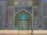 Pilgrim at the Shrine of Hazrat Ali, Mazar-I-Sharif, Balkh, Afghanistan, Asia Photographic Print by Jane Sweeney