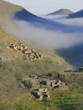 Mist Rising Above a Village in the High Atlas Mountains, Morocco, North Africa, Africa Photographic Print by David Poole