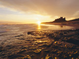 Bamburgh Castle at Sunrise, Northumberland, England Photographic Print by Lee Frost