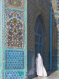 Pilgrim at the Shrine of Hazrat Ali, Mazar-I-Sharif, Balkh, Afghanistan, Asia Photographic Print by Jane Sweeney