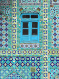 Tiling Around Blue Window, Shrine of Hazrat Ali, Mazar-I-Sharif, Balkh, Afghanistan, Asia Photographic Print by Jane Sweeney