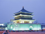 Drum Tower, Xi'An, Shanxi, China, Asia Photographic Print by Charles Bowman