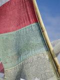 Prayer Flag, Annapurna Region, Nepal Photographic Print by David Poole