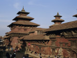 Durbar Square, Patan, Kathmandu Valley, Nepal, Asia Photographic Print by David Poole