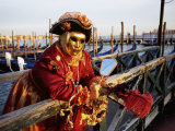 Portrait of a Person Dressed in Carnival Mask and Costume, Venice Carnival, Venice, Veneto, Italy Photographic Print by Lee Frost