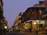 Bourbon Street in the Evening, New Orleans, Louisiana, USA Photographic Print by Charles Bowman