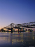 Mississippi River Bridge, New Orleans, Louisiana, USA Photographic Print by Charles Bowman