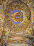Religious Frescoes Painted on Cloisters Ceiling, Rila Monastery, Bulgaria, Europe Photographic Print by Julian Pottage