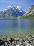 Tetons and Jenny Lake, Grand Teton National Park, Wyoming, USA Photographic Print by G Richardson