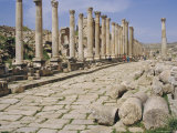 Colonnaded Street, Roman Ruins, Jerash, Jordan, Middle East Photographic Print by David Poole