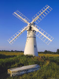 Windmill on Thurne Broad, Norfolk, England Photographic Print by Charles Bowman