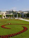 Mirabell Gardens and Schloss Hohensalzburg, Saltzburg, Austria Photographic Print by Charles Bowman
