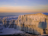 Glacier at Sunrise on Summit of Mount Kibo, 5895M, Killimanjaro National Park, Tanzania, Africa Photographic Print by David Poole