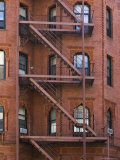 Fire Escapes, Boston, Massachusetts, USA Photographic Print by Amanda Hall