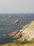 The Lighthouse at Pointe Du Raz, Southern Finistere, Brittany, France Photographic Print by Amanda Hall