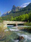 Bridge Over the River Arazas, Huesca (Pyrenees), Ordesa National Park, Aragon, Spain, Europe Photographic Print by Ruth Tomlinson