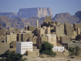 Multi-Storey Mud Brick Houses, Habban, Lower Hadramaut, Yemen, Middle East Photographic Print by Jj Travel Photography