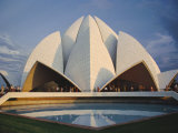 The Bahai Lotus Flower Temple, Built in 1980, Centre of the Bahai Faith, Delhi, India Photographic Print by Christopher Rennie