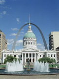 Fountains and Buildings in City of St. Louis, Missouri, United States of America (USA) Photographic Print by Adina Tovy