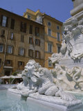 Fountain in Piazza Della Rotonda Outside Pantheon, Rome, Lazio, Italy, Europe Photographic Print by Julia Thorne