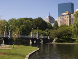 Lagoon Bridge in the Public Garden, Boston, Massachusetts, USA Photographic Print by Amanda Hall