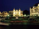 The Casino and Hotel De Paris by Night, Monte Carlo, Monaco Photographic Print by Ruth Tomlinson