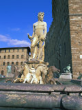 Neptune Fountain, Piazza Della Signoria, Florence, Unesco World Heritage Site, Tuscany, Italy Photographic Print by Hans Peter Merten