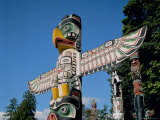 Totem Poles, Vancouver, British Columbia (B.C.), Canada, North America Photographic Print by Adina Tovy