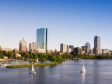 City Skyline and Charles River, Boston, Massachusetts, USA Photographic Print by Amanda Hall