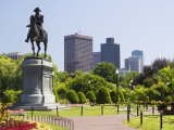 Statue of George Washington on Horseback, Public Garden, Boston, Massachusetts, USA Photographic Print by Amanda Hall