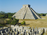El Castillo, Pyramid of Kukolkan, Chichen Itza, Mexico Photographic Print by Adina Tovy