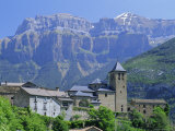 Torla, Village Perched on Hilltop Beneath Mondarruego, Huesca (Pyrenees), Aragon, Spain, Europe, Photographic Print