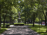 Tree Lined Central Mall in Commonwealth Avenue, Boston, Massachusetts, USA Photographic Print by Amanda Hall